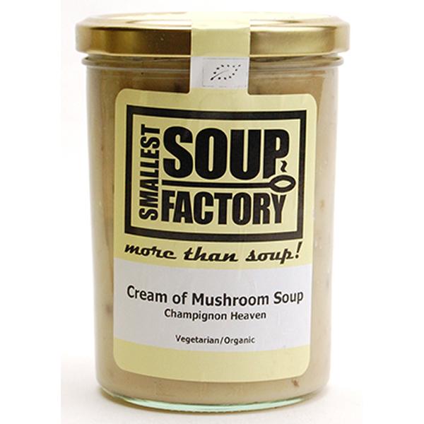 やわらかマッシュルームをコトコト煮込んで仕上げた濃厚クリームスープ